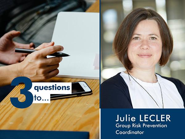 3 questions à Julie Lecler : au service de la sécurité des personnes, de l'environnement et des biens