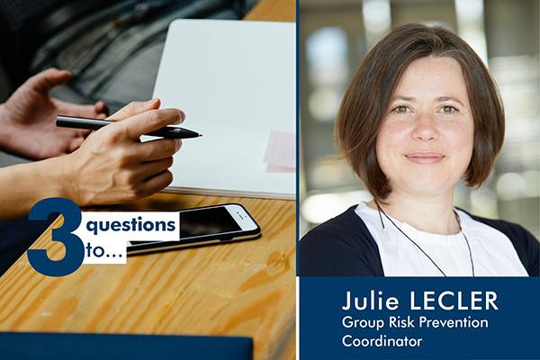 3 perguntas à Julie Lecler: a serviço da segurança das pessoas, do ambiente e dos bens