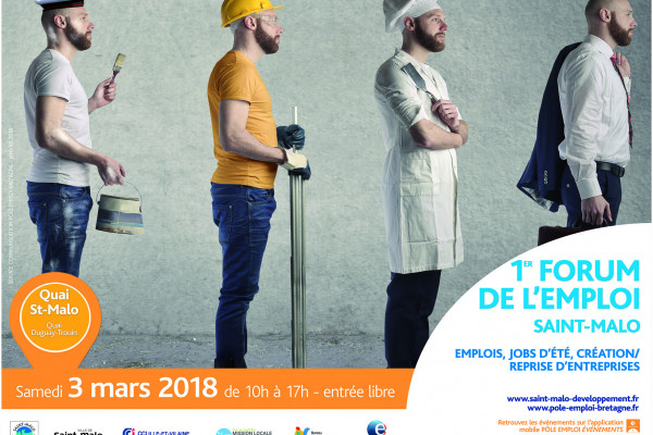 Únase a nosotros en el foro del empleo de Saint-Malo el sábado 3 de marzo